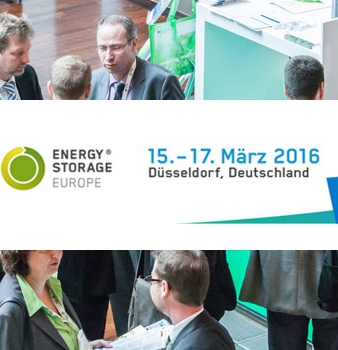 Energy Storage Europe in Düsseldorf – 15.-17.März 2016