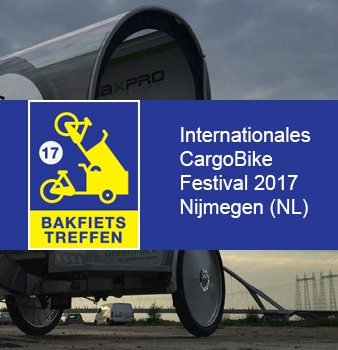 GreenPack auf dem internationalen CargoBike Festival 2017 in Nijmegen (NL)